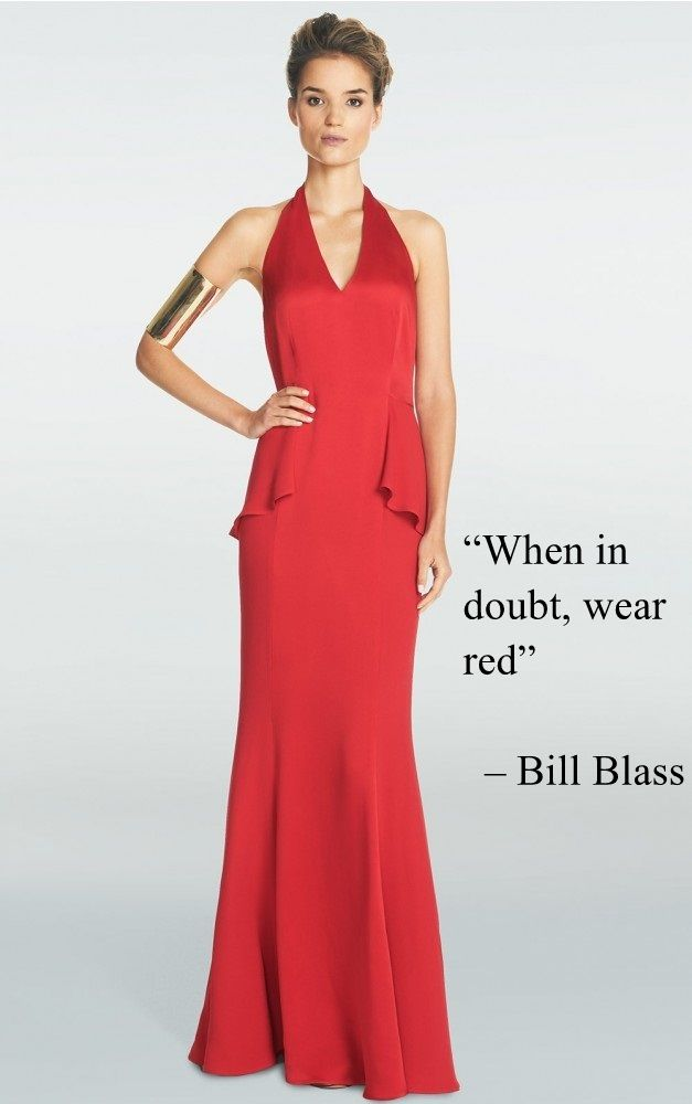 red long dress outfit quote
