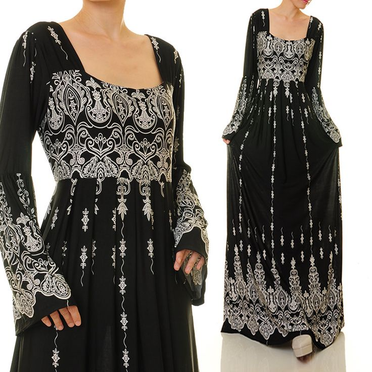 Black Abaya Maxi Dress  Long Sleeve Maxi Dress  Jersey Abaya