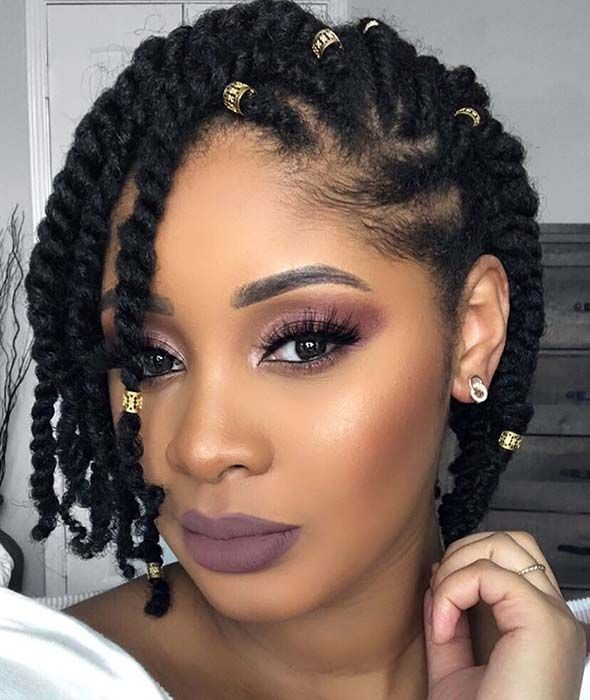 25 Beautiful Natural Hairstyles You Can Wear Anywhere With Images Protective Hai In 2020 Natural Hair Styles Easy Hair Twist Styles Professional Natural Hairstyles