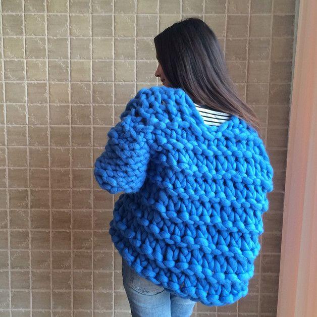 Wool Coats – Super Chunky Merino Wool Coat - Wool Cardigan – a unique product by julia_dolunay on DaWanda