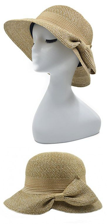 Melesh Soft Fashion Womens Summer Beach Sun Straw Hat (Rice)  8e430a2a7