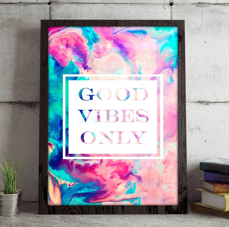 Good Vibes only, multi coloured, marble effect, printable wall art. Home décor, wall art, good vibes only, hippie art, boho art, hippie wall art, boho wall art, teen décor, unicorn, unicorn art, teen room décor, bedroom decoration, print, bedroom print, unicorn print