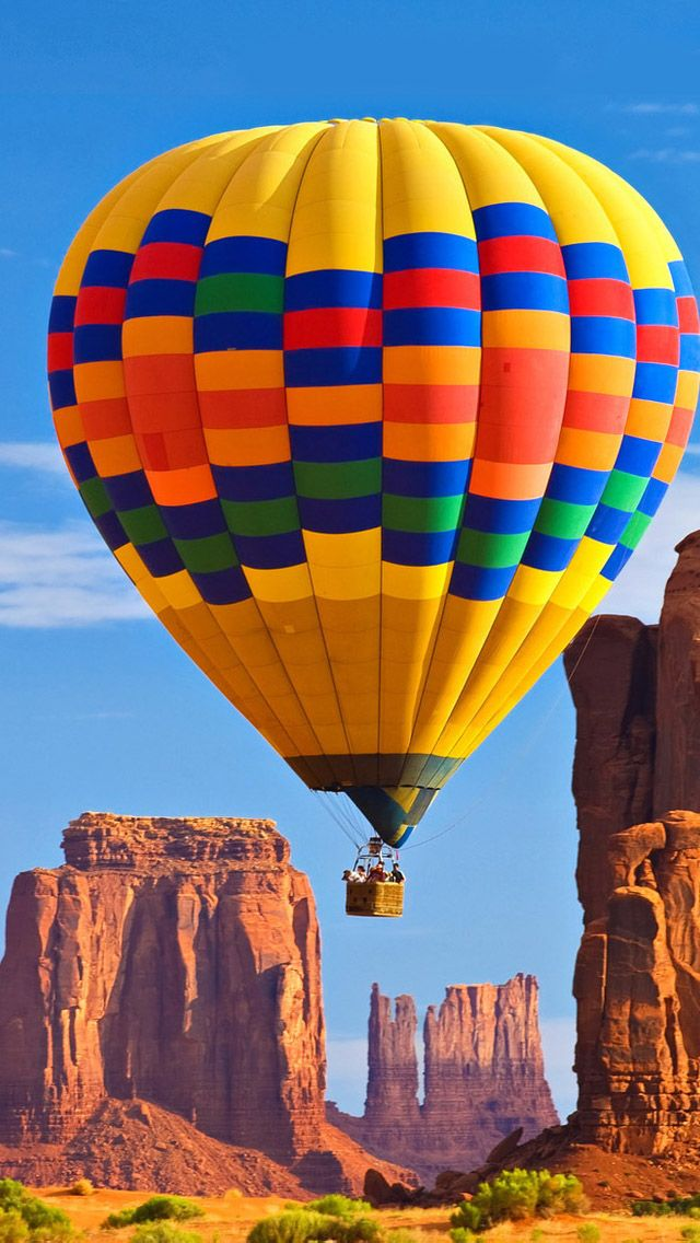 the love of the hot air balloon iphone 5s wallpaper