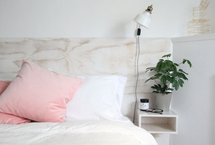 Plywood Headboard & Floating Bedside Tables | PiperWinston