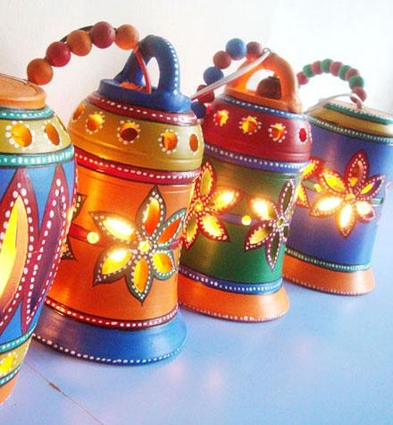Terracotta lamps (Matsya Crafts)