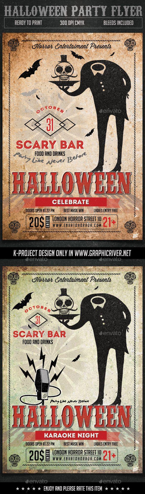 Halloween Party Flyer Template PSD #design Download: http://graphicriver.net/item/halloween-party-flyer/12955145?ref=ksioks