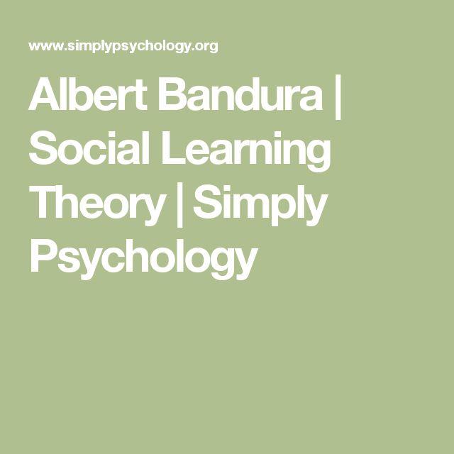 Albert Bandura | Social Learning Theory | Simply Psychology