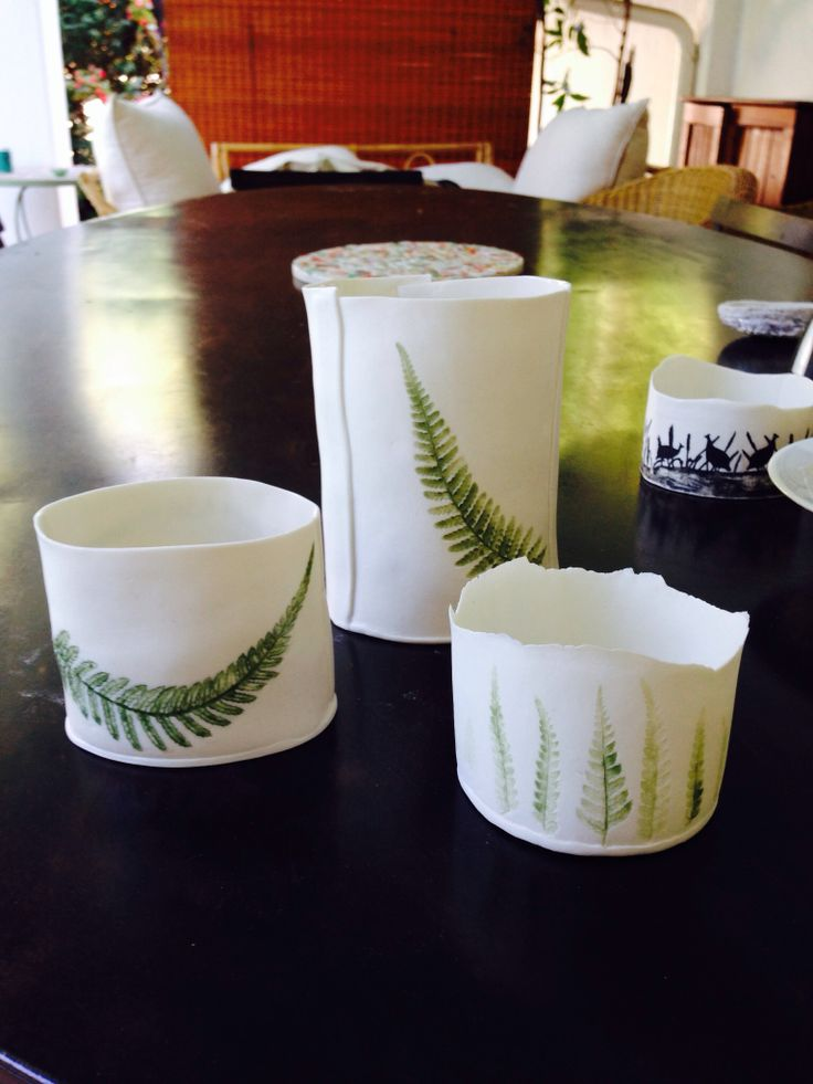 Imprinted paper porcelain