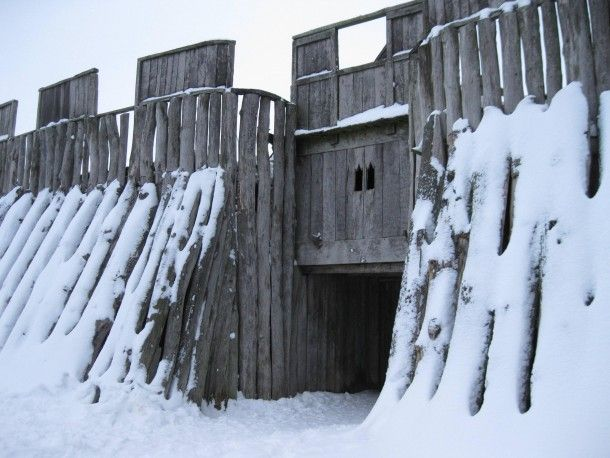 Viking fortress in Trelleborg Sweden