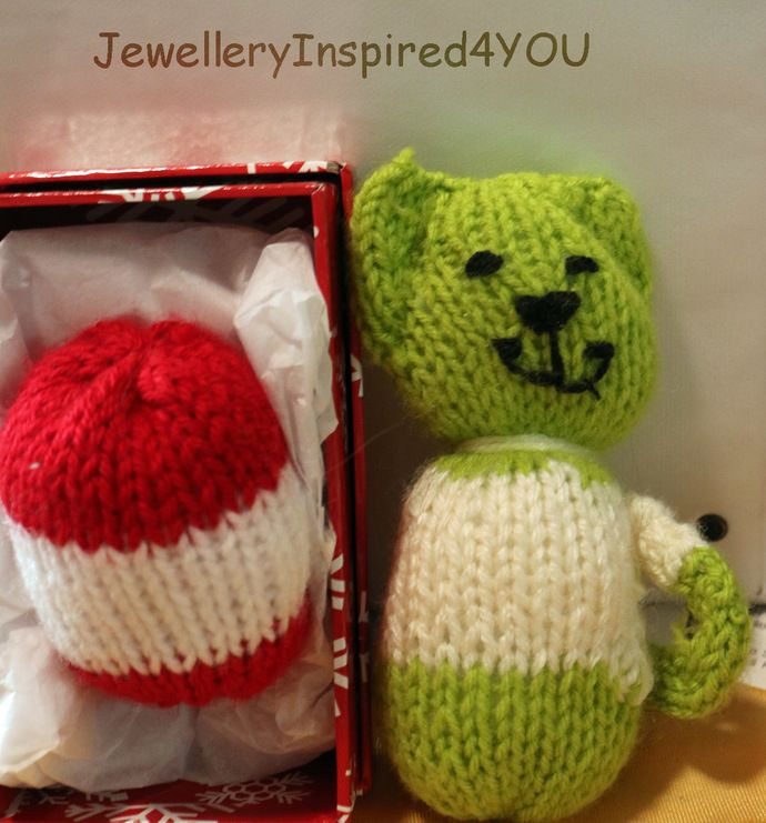 Soft Knitted Round Ball as Soft Toy for Pets, Children or Christmas Decoration by JewelleryInspired4U, $10.00 USD
