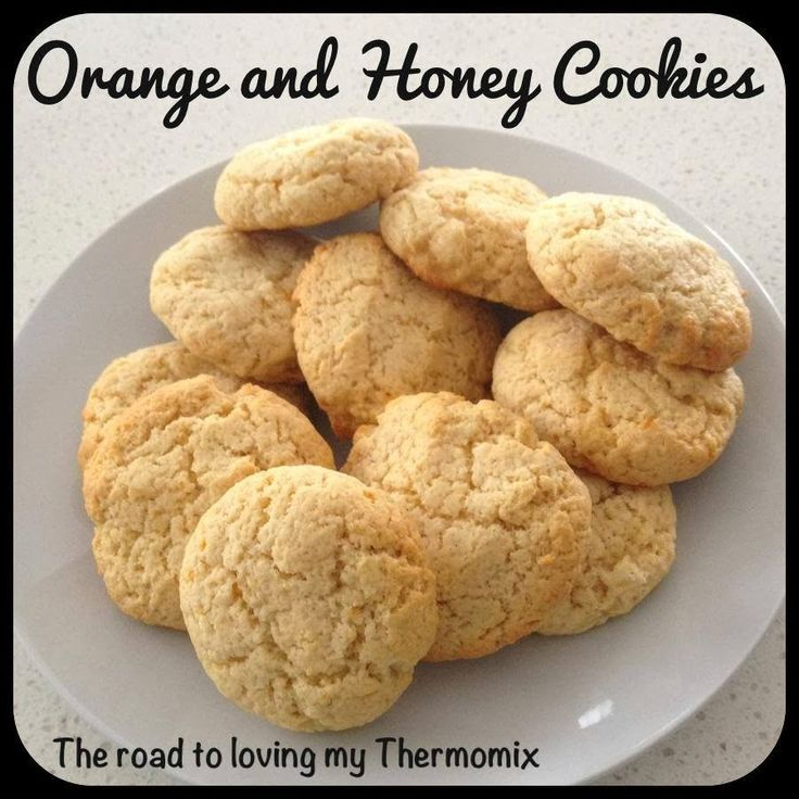 The road to loving my Thermomix: Orange and Honey Cookies