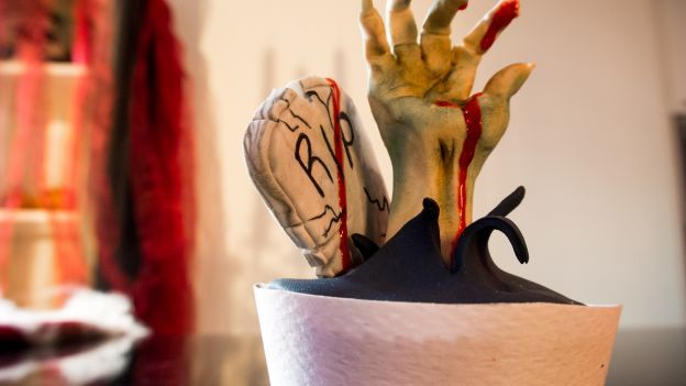Dolci di Halloween: cupcakes zombie