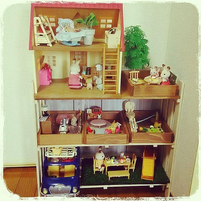 棚 キッズスペース こどものいる暮らし おもちゃ部屋 すのこdiy などのインテリア実例 2017 06 05 11 13 37 Roomclip ルームクリップ キッズスペース 収納 アイデア インテリア 収納