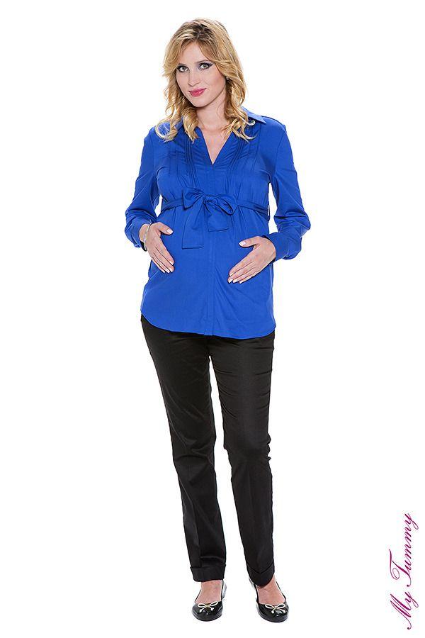 Koszula ciążowa Ana niebieska