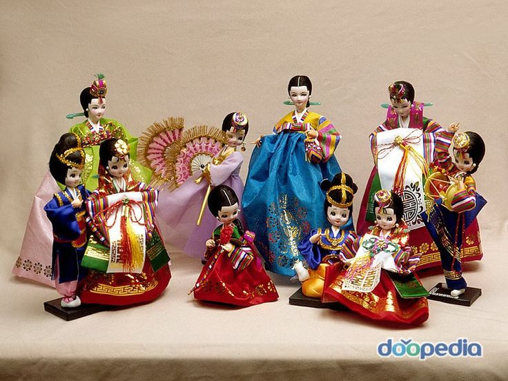 Korean Dolls Wearing #Hanbok