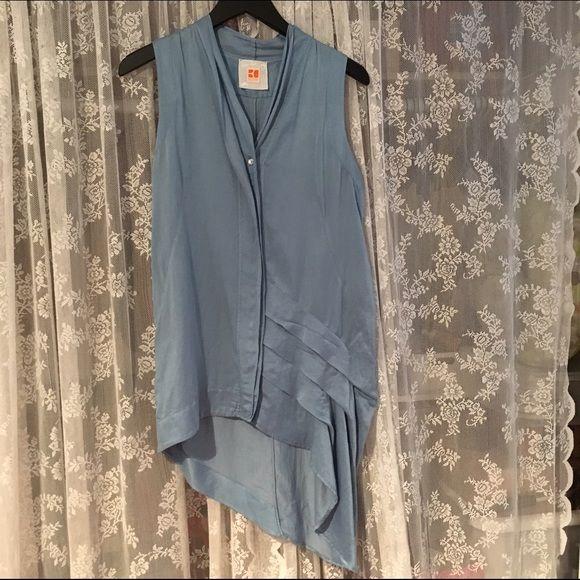 Hugo Boss Orange High-Low Top 50% silk / 50% cotton. Super cute top that you can dress up or down easily. Hugo Boss Tops Button Down Shirts
