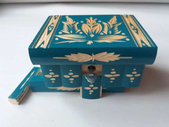 Almacenamiento de joyería de madera turquesa nuevo caja, caja mágica, caja misteriosa, caja de Puzzle especial, caja difícil secreto, handcarved caja, decoración casera, perfecto regalo