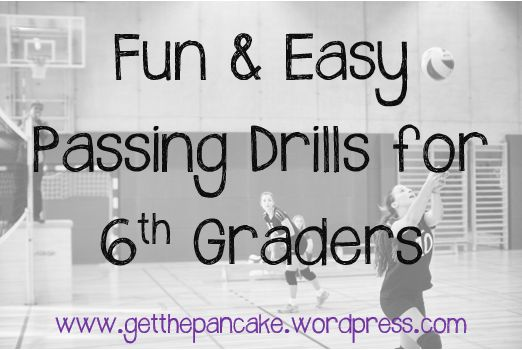 Fun, easy passing drills for your 6th grade volleyball players that get them moving and playing the game.