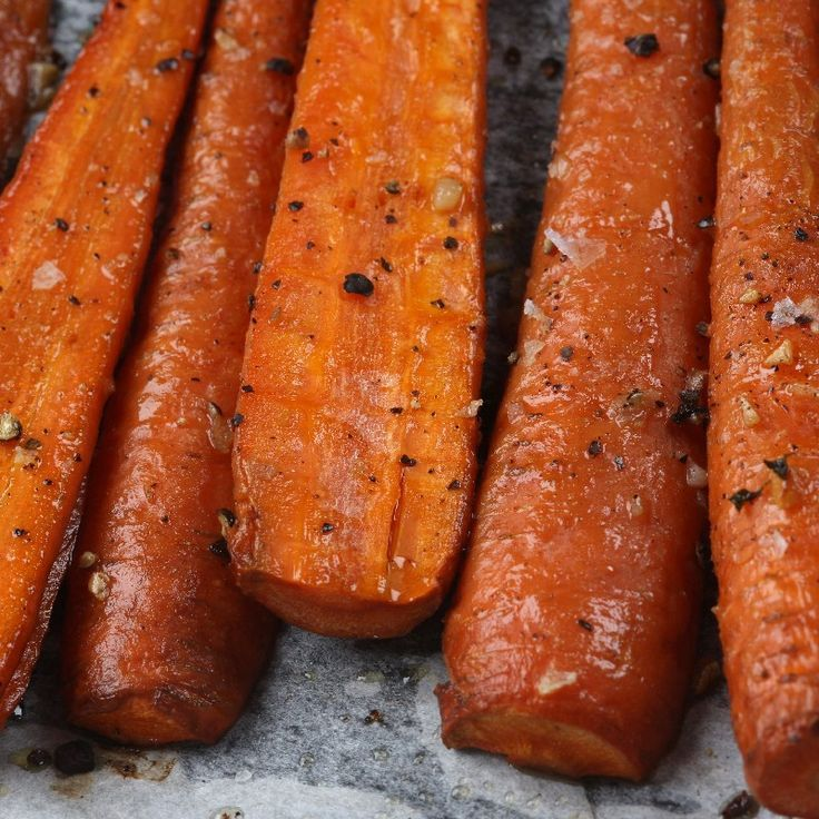 Made- Perfect roasted carrots! Simple, tasty, & healthy-- no butter!