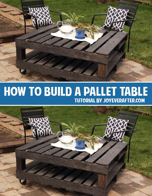 How To Build A Pallet Table And Lots Of Other Great Diy Projects!