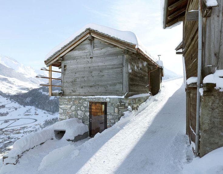 Entrance, Maison Boisset in Orsières Switzerland by Savioz Fabrizzi Architectes