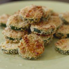 Panierte Zucchini mit Parmesankruste