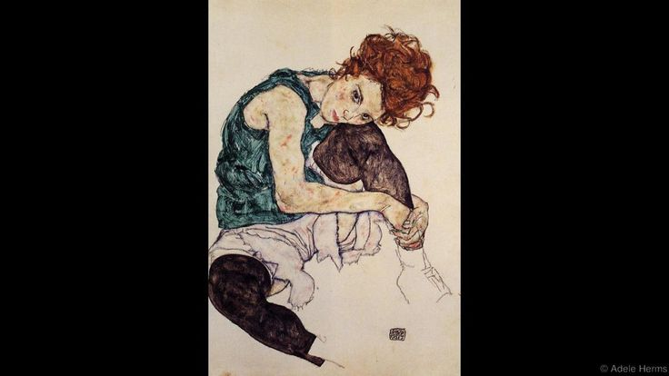 Seated Woman with Legs Drawn Up (Adele Herms)