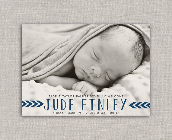 birth announcement by announcingyou via Etsy