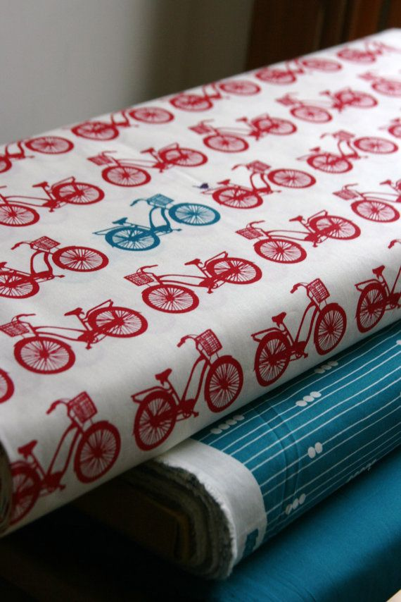 Bike Fabric - Red