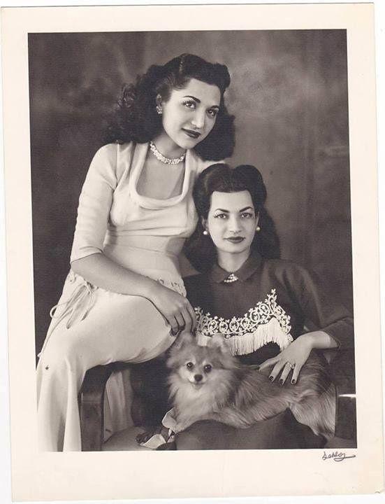 TIH Princess Fatmeh and Ashraf Pahlavi of Iran.
