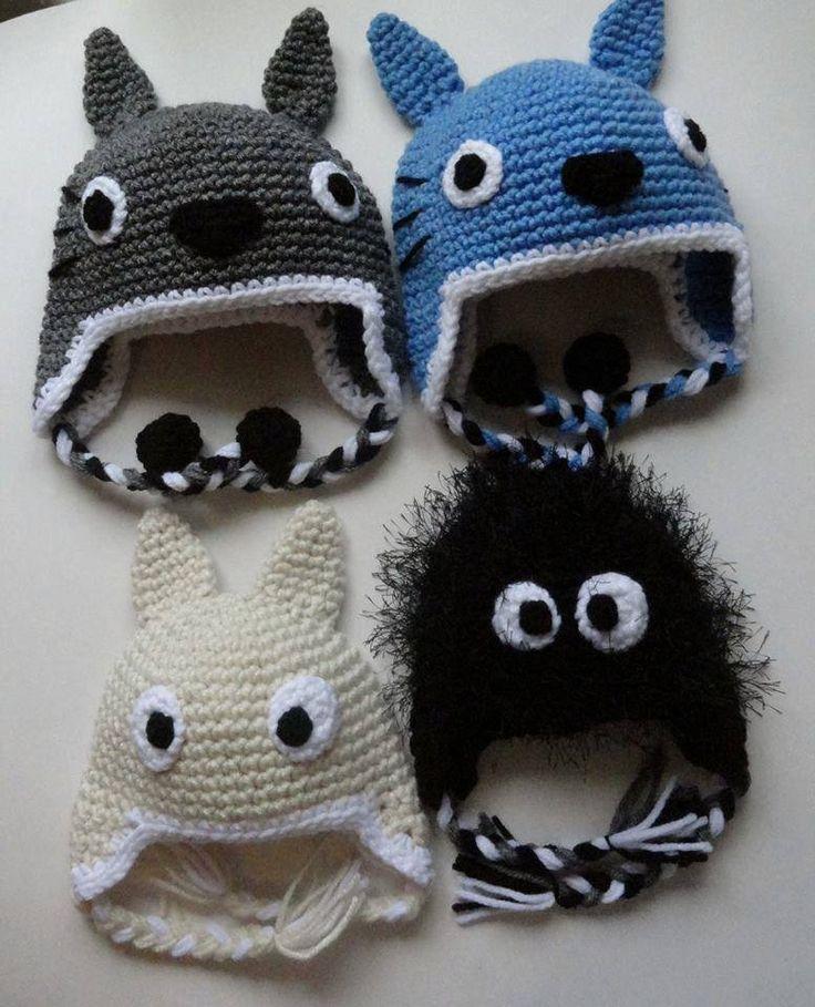 Gorros tororo, blue totoro, pequeño totoro y duende del polvo