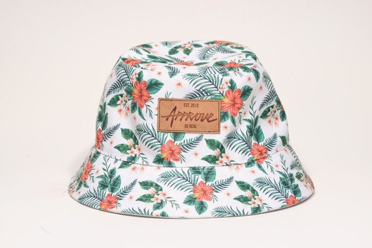 White Floral Bucket - Dupla Face - Just Approve