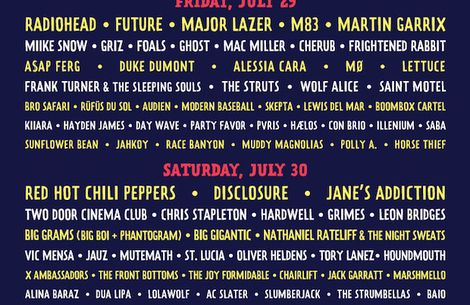 Lollapalooza 2016's schedule has been announced