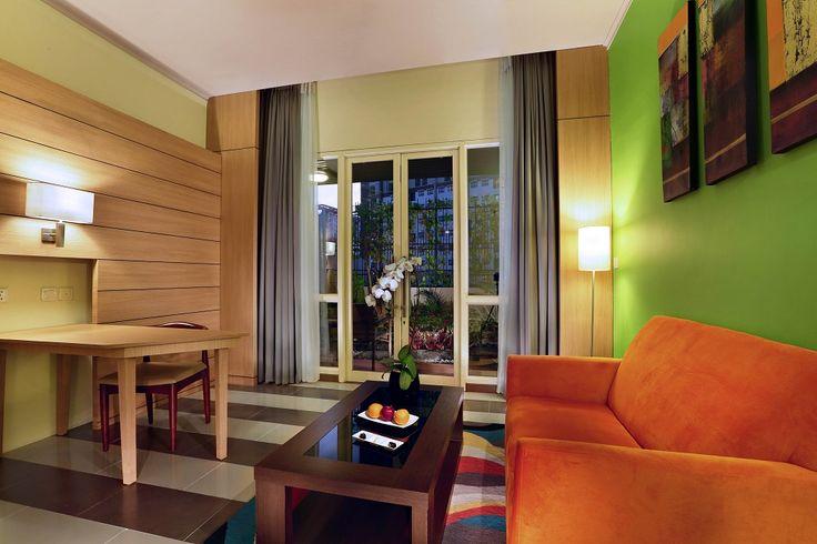 Suite room - Living room & written desk corner - Atria Hotel Gading Serpong