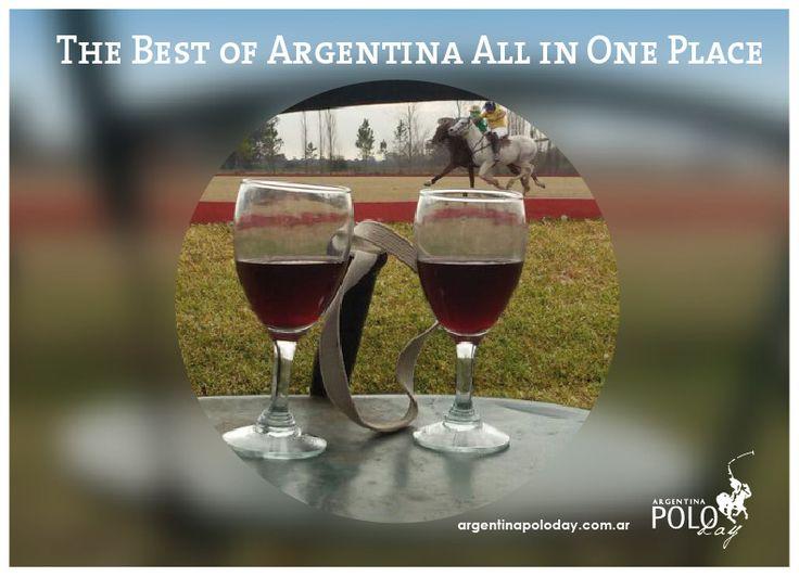 Watching a #polomatch while sipping a wonderful #malbec #idontneedanythingelse #visitarg #argentinamoments #thingstodoinbuenosaires #argentinapoloday