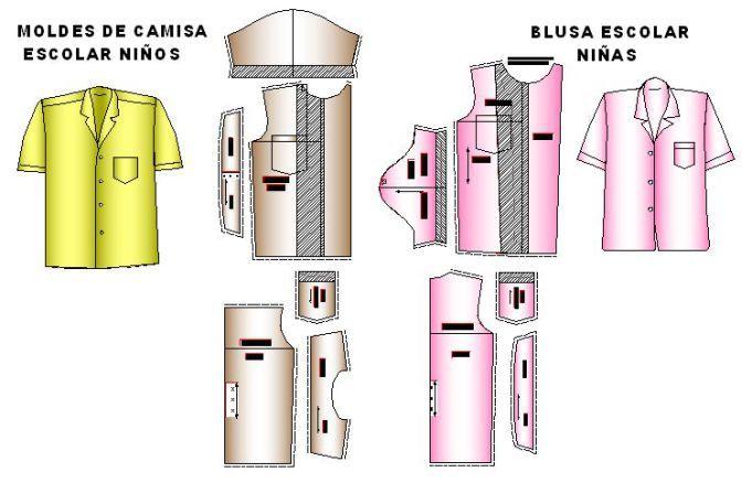 Camisas escolares para niñas