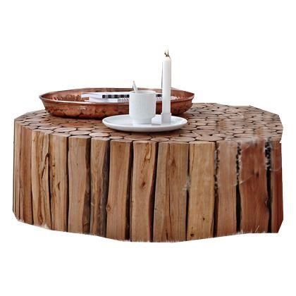 Dieser Schicke Couchtisch Aus Naturbelassenen Ästen Und Echt Indischem Holz  Wird Bestimmt Auch In Deinen Vier
