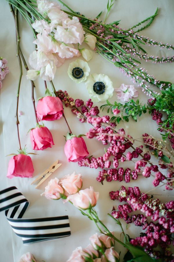 garden roses, sweet peas, veronica, anemones, box wood, stock and callicarpa - See more at: http://www.heygorg.com/2013/12/hey-gorgeous-south-part-one.html#sthash.HHbrewMc.dpuf