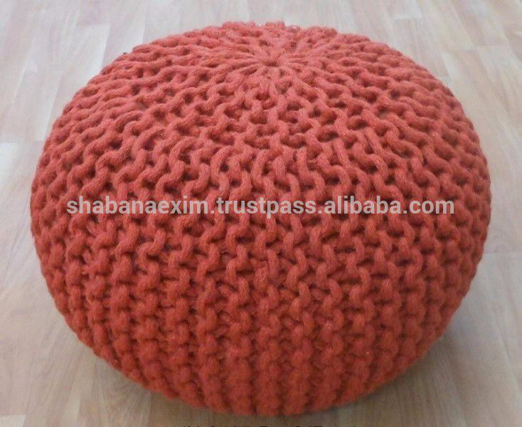 Check out this product on Alibaba.com APP Crochet pouf ottoman Hand crochet Knitted Poufs