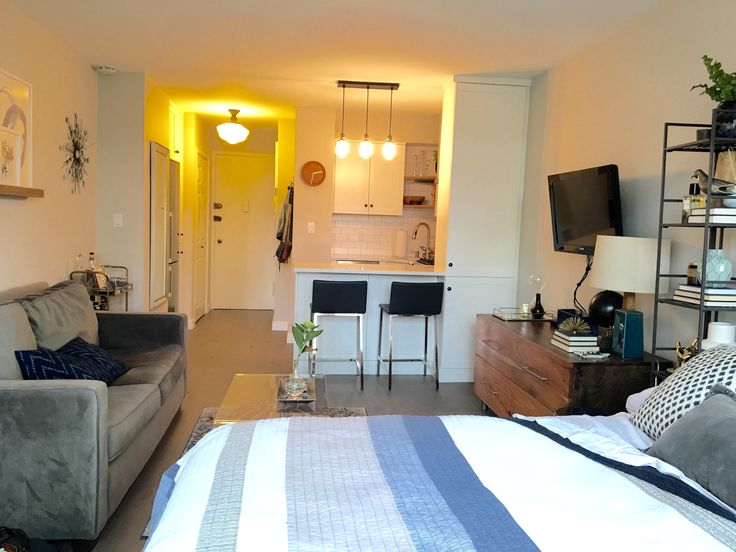 From Gut to Gorgeous: A Complete Studio Apartment Makeover. Bachelor  Apartment DecorSmall ...