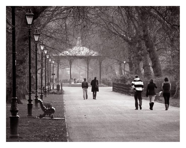 The Bandstand - looking West. Battersea Park, London