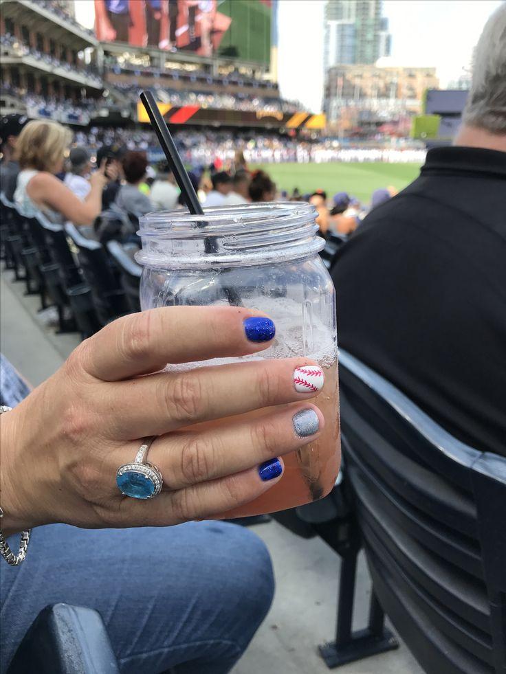 Sports nails! Baseball nails! #Baseball #NailArt