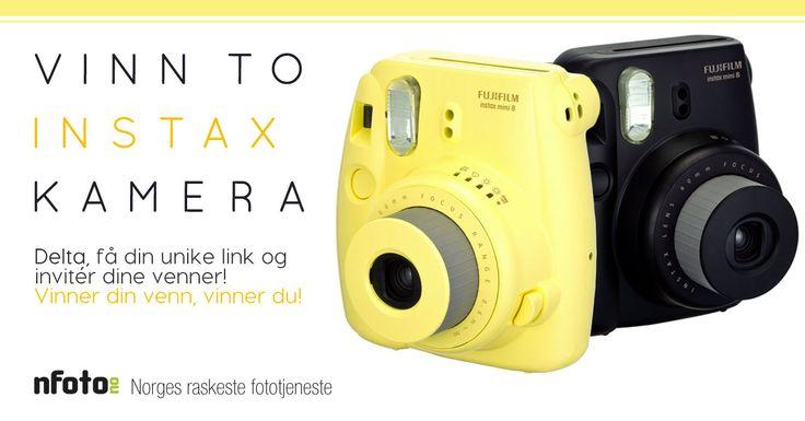 UNIK INVITASJON - Deltar du i konkurransen med denne linken øker du din egen og din venns vinnersjanser i denne  morsomme Nfoto.no-konkurransen! Vinnerne får to stk lekre Instax mini 8 analoge kamera fra FujiFilm.