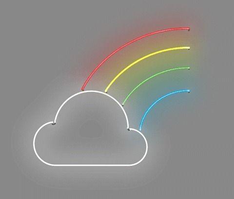 Cloud/rainbow neon