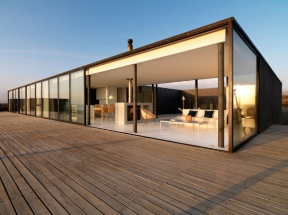 Casa pe plaja cu design minimalist, in Chile (1)