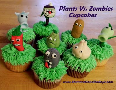 Plants Vs. Zombies Cupcakes - Momma D and Da Boyz