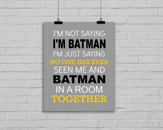 Batman Print - Batman-Typografie-Grafik, Superhero Angebot, jungen Zimmer, Superhero Kindergarten, Superhero Playroom Decor, Super Hero Print