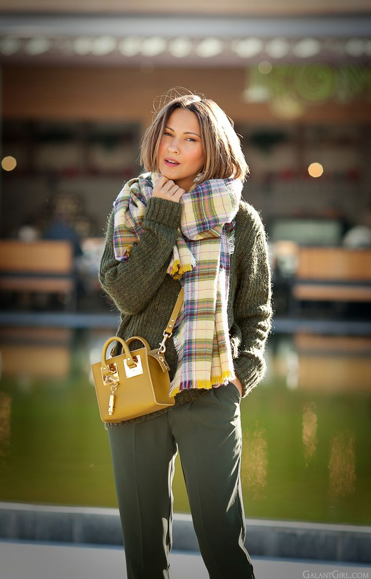 warm autumn outfit 2014 on GalantGirl.com with Sophie Hulme tote