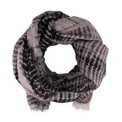 Schal mit bicolourer Musterung
