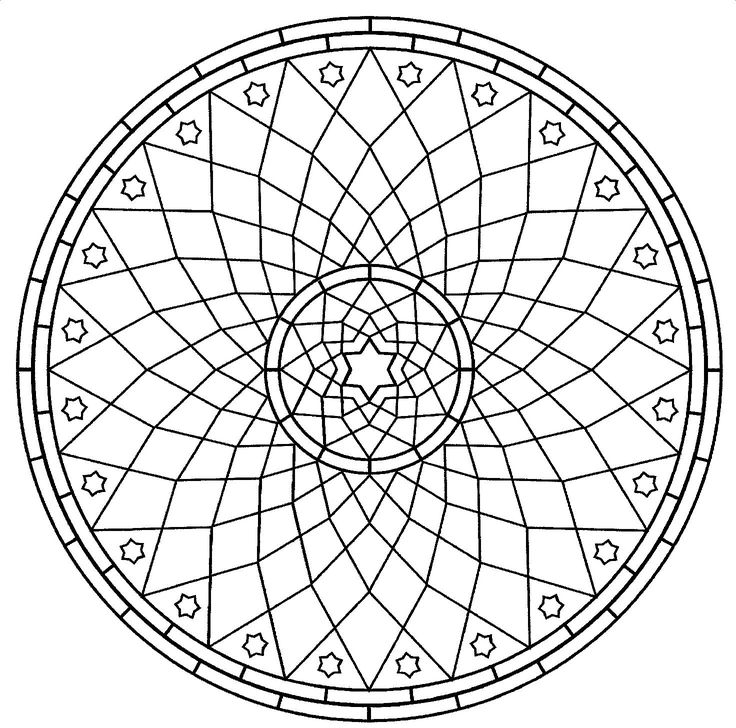 intricate shape designs coloring pages - photo#34